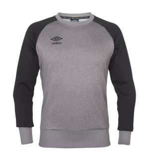 UMBRO Core Tech Crewneck jr Lys grå 152 Rundhalset genser i polyester til junior